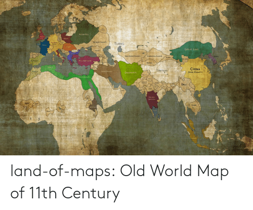 century: land-of-maps:  Old World Map of 11th Century