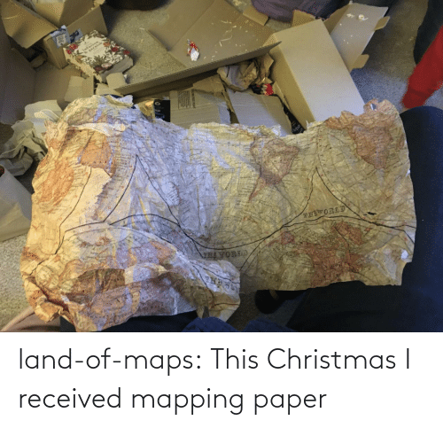 Christmas: land-of-maps:  This Christmas I received mapping paper