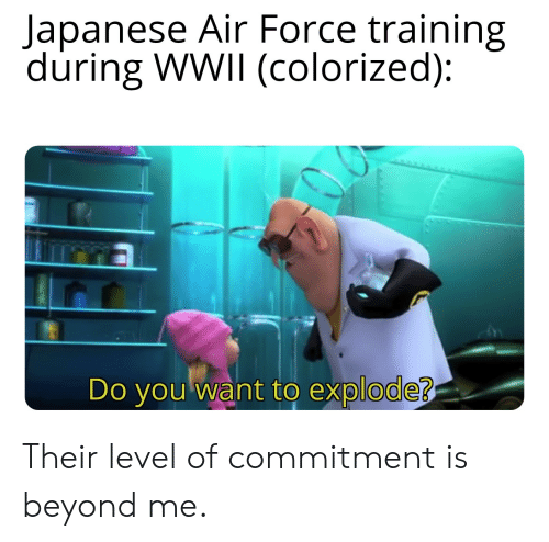 Lapanese Air Force Training During WWII Colorized Do Youwant to