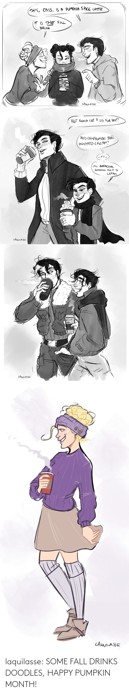 Happy: laquilasse:  SOME FALL DRINKS DOODLES, HAPPY PUMPKIN MONTH!