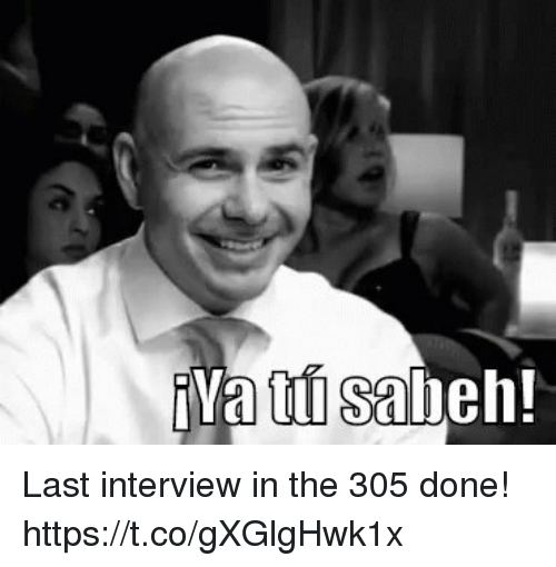 Memes, 🤖, and Interview: Last interview in the 305 done! https://t.co/gXGlgHwk1x