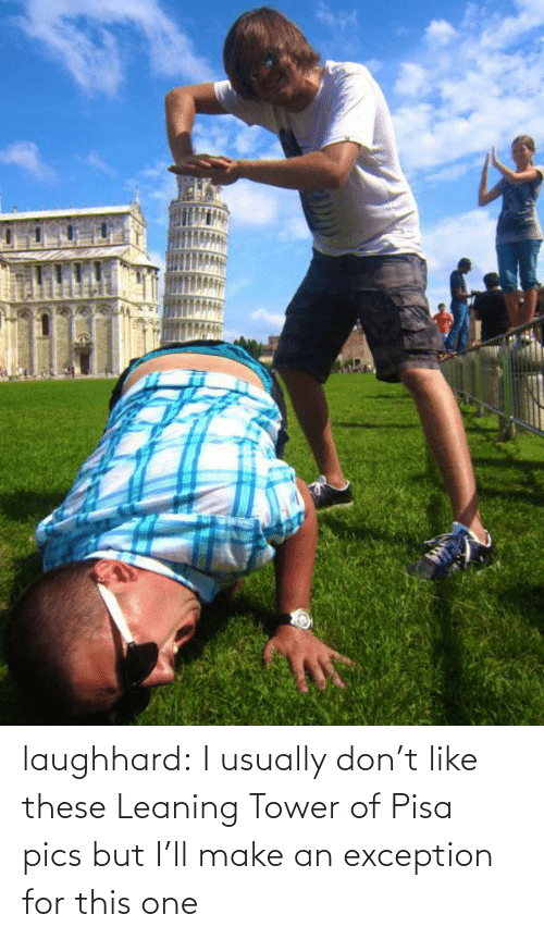Target, Tumblr, and Blog: laughhard:  I usually don't like these Leaning Tower of Pisa pics but I'll make an exception for this one