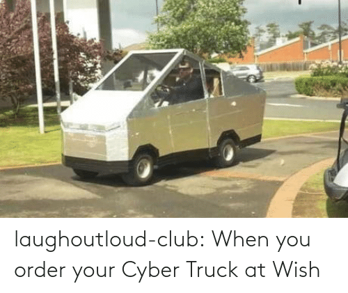 order: laughoutloud-club:  When you order your Cyber Truck at Wish