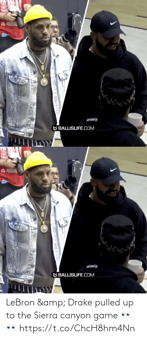 Game: LeBron & Drake pulled up to the Sierra canyon game 👀👀 https://t.co/ChcH8hm4Nn