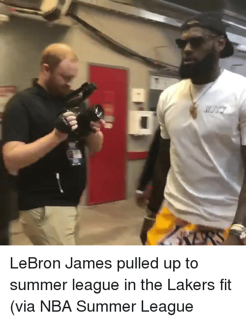 Los Angeles Lakers, LeBron James, and Nba: LeBron James pulled up to summer league in the Lakers fit   (via NBA Summer League