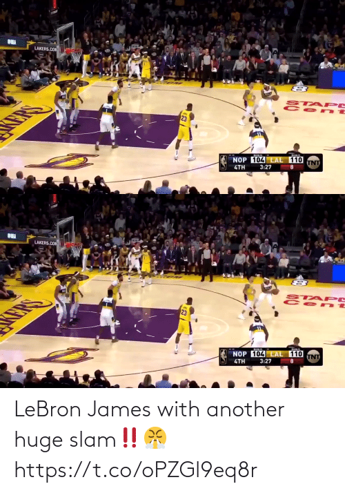 james: LeBron James with another huge slam‼️😤 https://t.co/oPZGl9eq8r