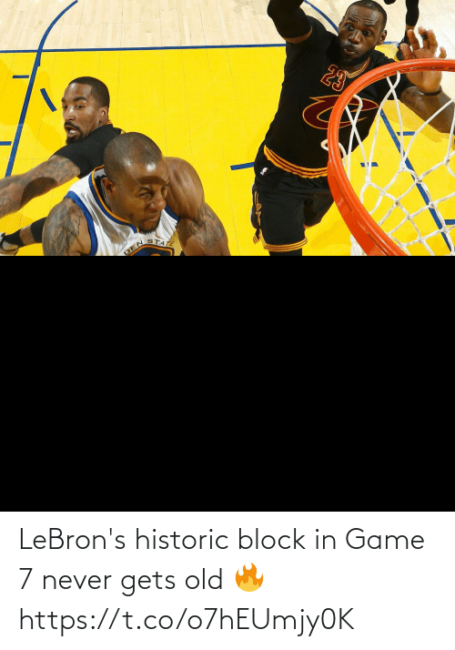 block: LeBron's historic block in Game 7 never gets old 🔥 https://t.co/o7hEUmjy0K