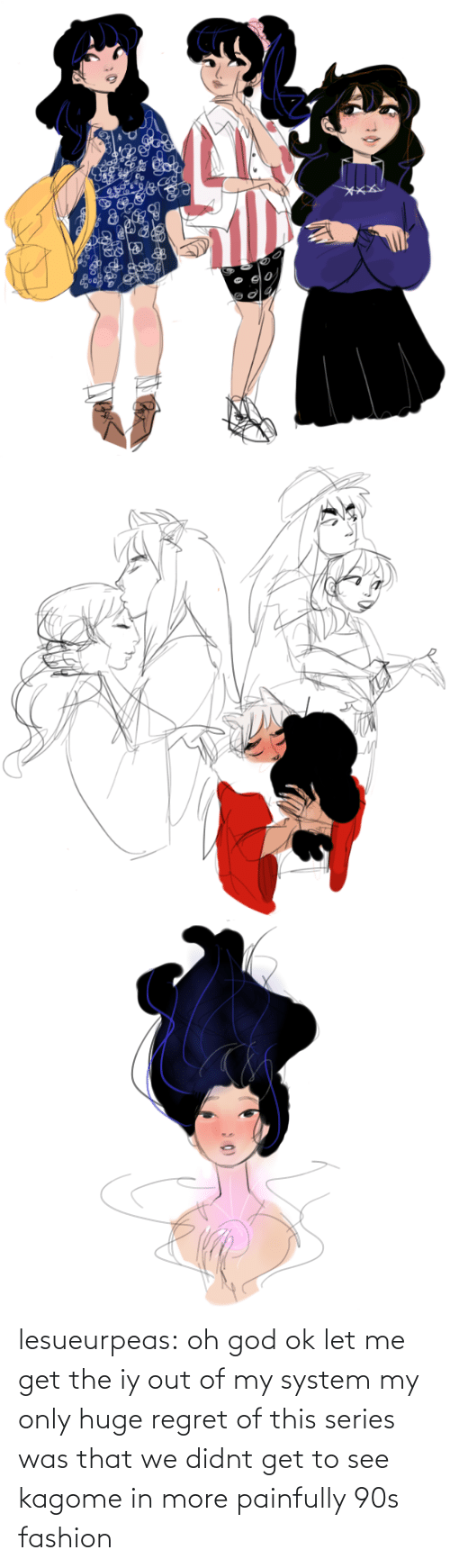 Regret: lesueurpeas:  oh god ok let me get the iy out of my system my only huge regret of this series was that we didnt get to see kagome in more painfully 90s fashion