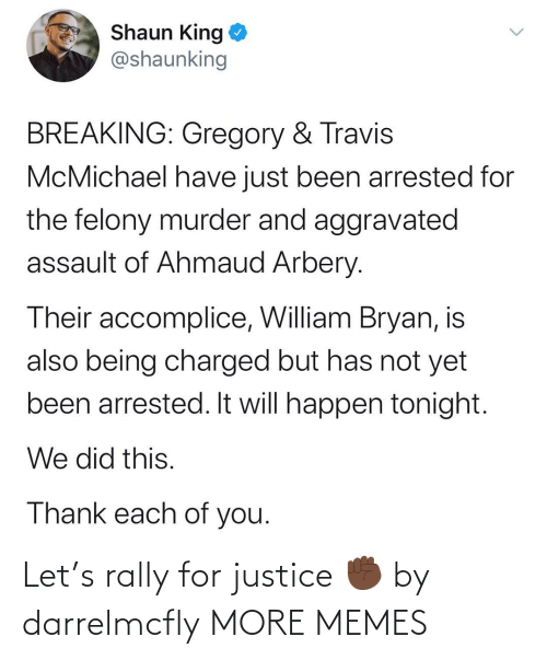 Justice: Let's rally for justice ✊🏿 by darrelmcfly MORE MEMES