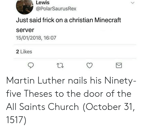 Lewis Just Said Frick on a Christian Minecraft Server