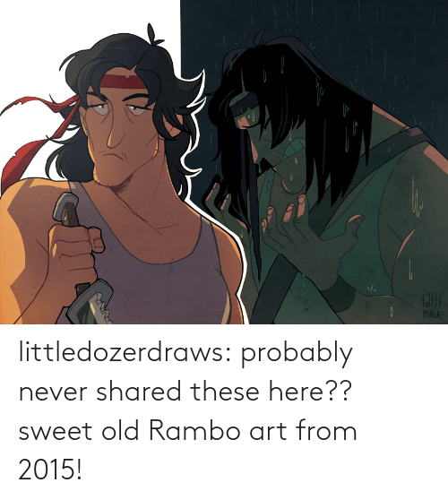sweet: littledozerdraws:  probably never shared these here?? sweet old Rambo art from 2015!