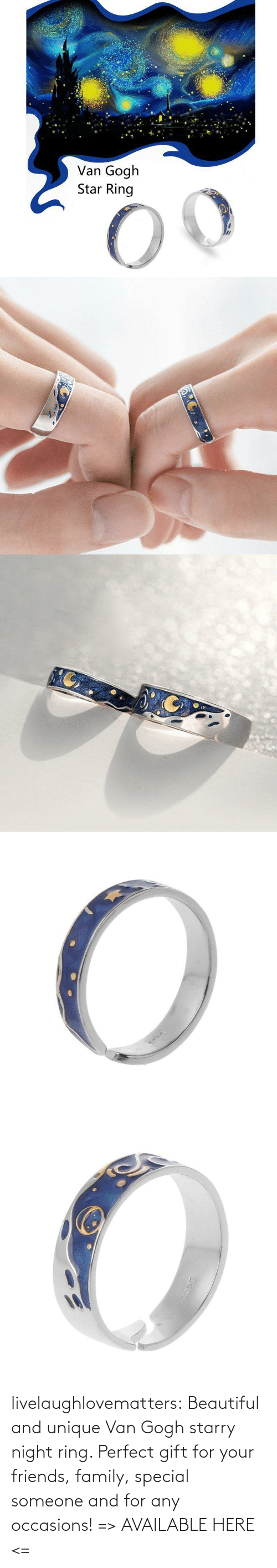 ring: livelaughlovematters: Beautiful and unique Van Gogh starry night ring. Perfect gift for your friends, family, special someone and for any occasions! =>AVAILABLE HERE <=