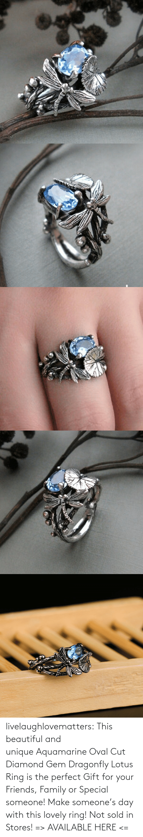 ring: livelaughlovematters: This beautiful and uniqueAquamarine Oval Cut Diamond Gem Dragonfly Lotus Ring is the perfect Gift for your Friends, Family or Special someone! Make someone's day with this lovely ring! Not sold in Stores! => AVAILABLE HERE <=