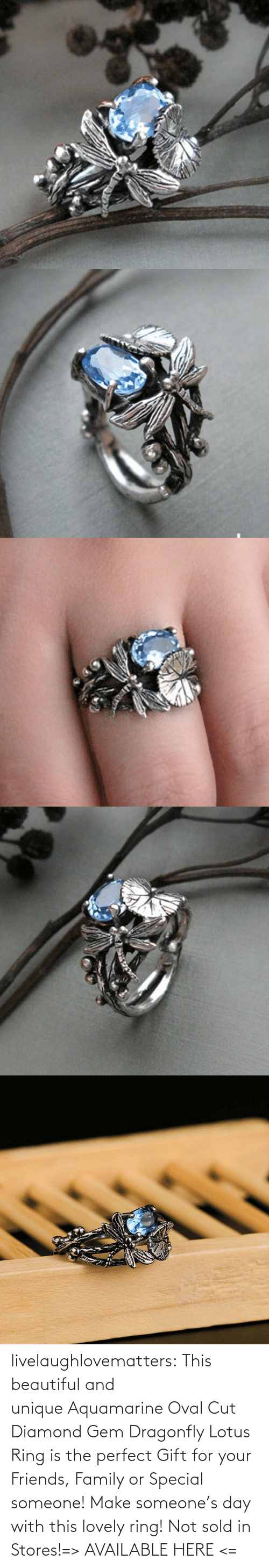 ring: livelaughlovematters:  This beautiful and uniqueAquamarine Oval Cut Diamond Gem Dragonfly Lotus Ring is the perfect Gift for your Friends, Family or Special someone! Make someone's day with this lovely ring! Not sold in Stores!=> AVAILABLE HERE <=