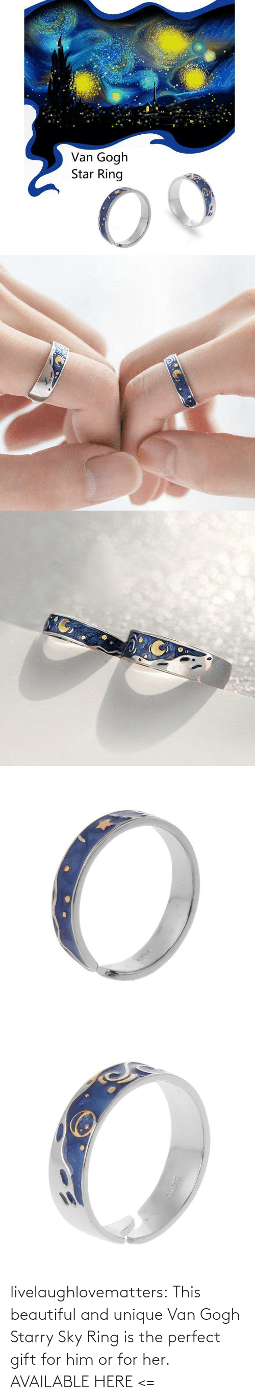 ring: livelaughlovematters:  This beautiful and unique Van Gogh Starry Sky Ring is the perfect gift for him or for her. AVAILABLE HERE <=