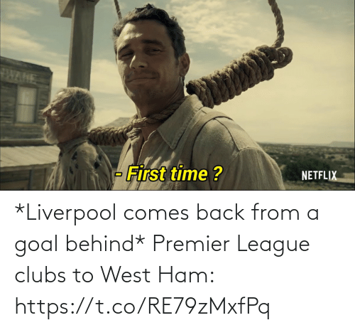 Goal: *Liverpool comes back from a goal behind*  Premier League clubs to West Ham: https://t.co/RE79zMxfPq
