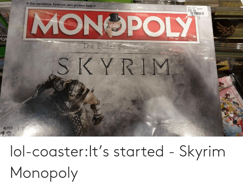 Monopoly: lol-coaster:It's started -Skyrim Monopoly