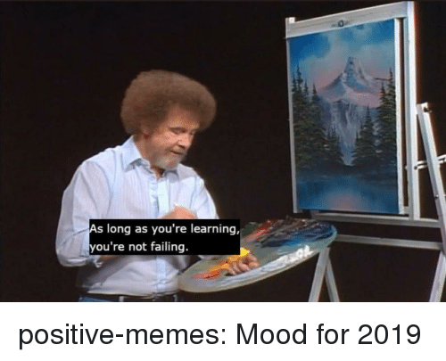 Memes, Mood, and Tumblr: long as you're learning,  ou're not failing. positive-memes: Mood for 2019