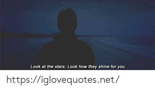 shine: Look at the stars. Look how they shine for you https://iglovequotes.net/