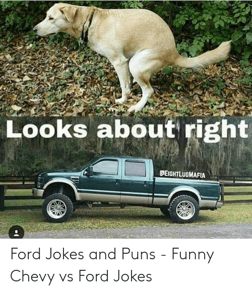 Ford Jokes: Looks about right  PEIGHTLUGMAFIA Ford Jokes and Puns - Funny Chevy vs Ford Jokes