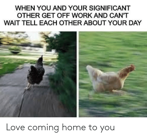 To You: Love coming home to you
