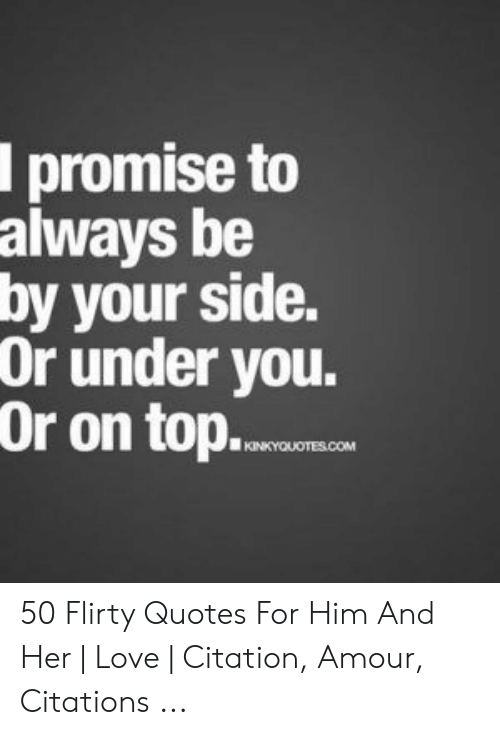 Top 10 flirty quotes