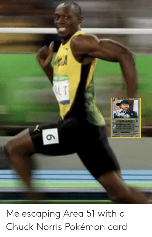 Chuck Norris, Pokemon, and Dank Memes: LT  Chuck Norris  oo The Chuck Glare  80  Roundhouse Kick  orCuck Norris uses  this move its all over  6000  None  Everything  6 Me escaping Area 51 with a Chuck Norris Pokémon card