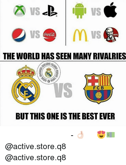 best ever: m vs  CoaCola  THE WORLD HAS SEEN MANY RIVALRIES  FCB  BUT THIS ONE IS THE BEST EVER حقيقه 👌🏻 - افضل اكاونت للبيع تي شيرتات رياضيه بارخص اسعار 😍💵 @active.store.q8 @active.store.q8