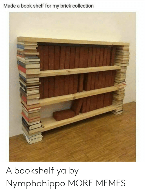 Dank, Memes, and Target: Made a book shelf for my brick collection A bookshelf ya by Nymphohippo MORE MEMES