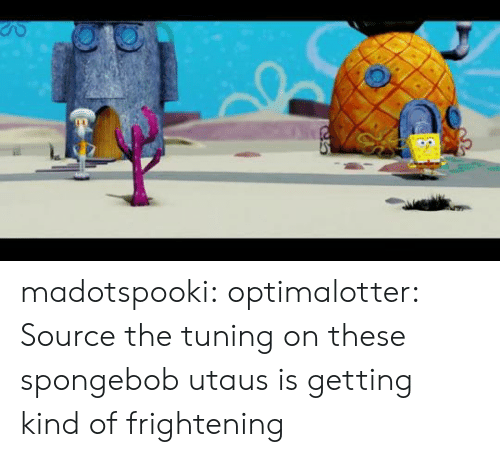 SpongeBob: madotspooki:  optimalotter: Source  the tuning on these spongebob utaus is getting kind of frightening