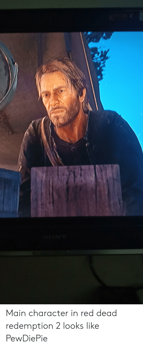 Red Dead Redemption, Red Dead, and Red: Main character in red dead redemption 2 looks like PewDiePie