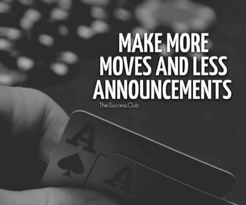 Club, Success, and Make: MAKE MORE  MOVES AND LESS  ANNOUNCEMENTS  The Success Club