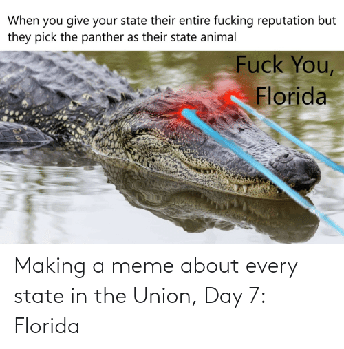 Florida: Making a meme about every state in the Union, Day 7: Florida