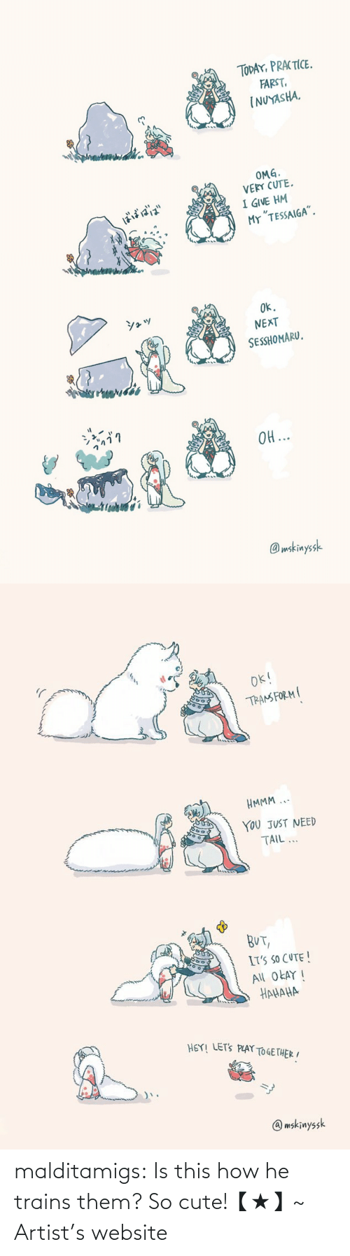 how: malditamigs:  Is this how he trains them? So cute!【★】~ Artist's website