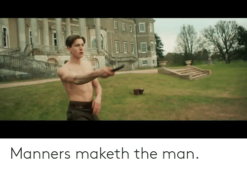 Memes, 🤖, and Man: Manners maketh the man.