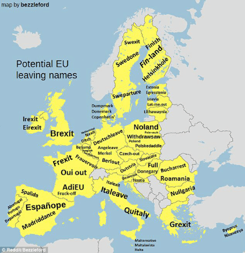 Map by Bezzleford Swexit Potential EU Finish Leaving Names Swedone