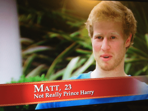 Prince, Prince Harry, and Harry: MATT, 23  Not Really Prince Harry