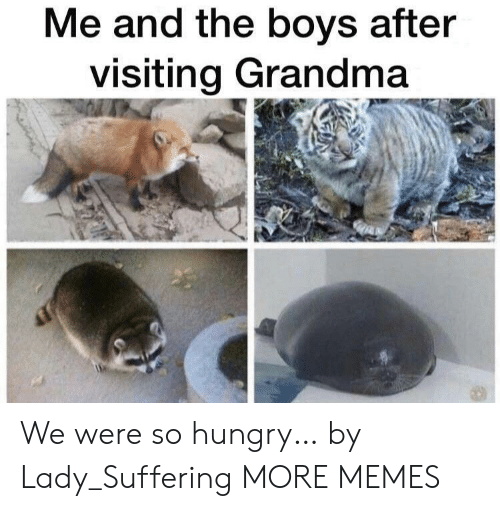 Dank, Grandma, and Hungry: Me and the boys after  visiting Grandma We were so hungry… by Lady_Suffering MORE MEMES