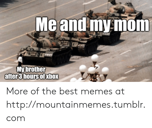 Memes, Tumblr, and Best: Meand mymom  My brother  after3lhours OTXDOX More of the best memes at http://mountainmemes.tumblr.com