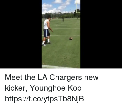 Meet The La Chargers New Kicker Younghoe Koo Httpstcoytpstb8njb