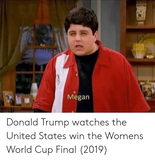 Donald Trump: Megan Donald Trump watches the United States win the Womens World Cup Final (2019)