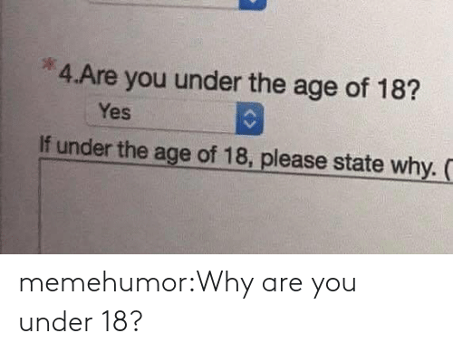 Why Are: memehumor:Why are you under 18?