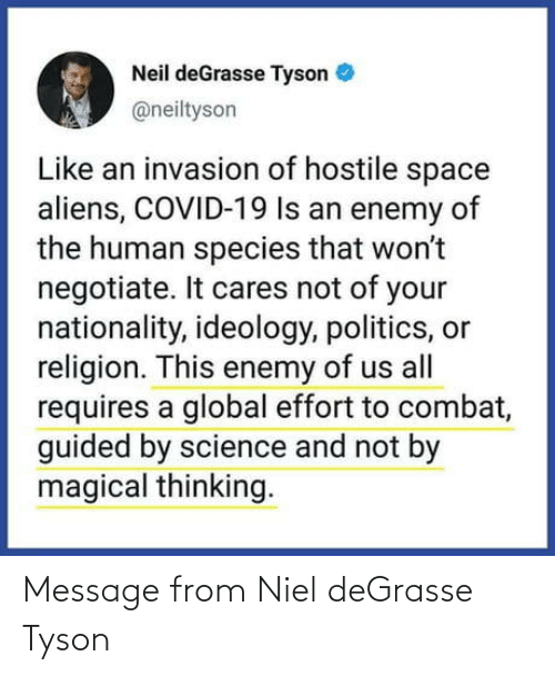 message: Message from Niel deGrasse Tyson