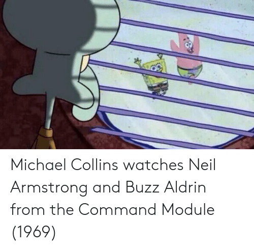 Buzz Aldrin: Michael Collins watches Neil Armstrong and Buzz Aldrin from the Command Module (1969)