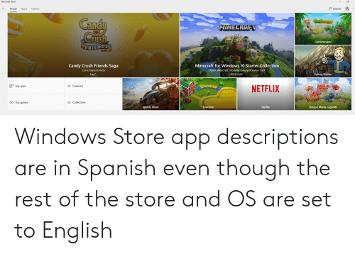 Microsoft Store O Search Home Apps Games Candy CrUsh