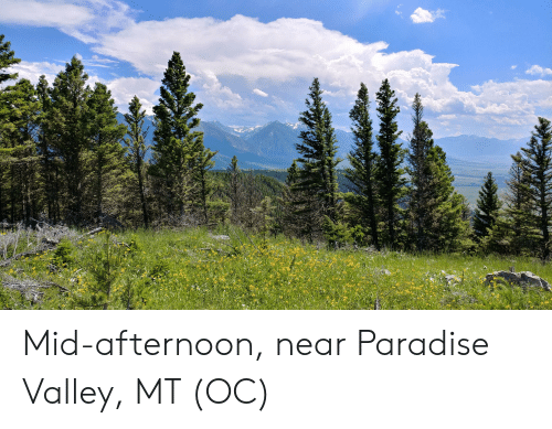 Paradise, Afternoon, and Valley: Mid-afternoon, near Paradise Valley, MT (OC)