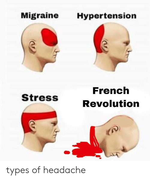 hypertension: Migraine Hypertension  French  Revolution  StressS types of headache