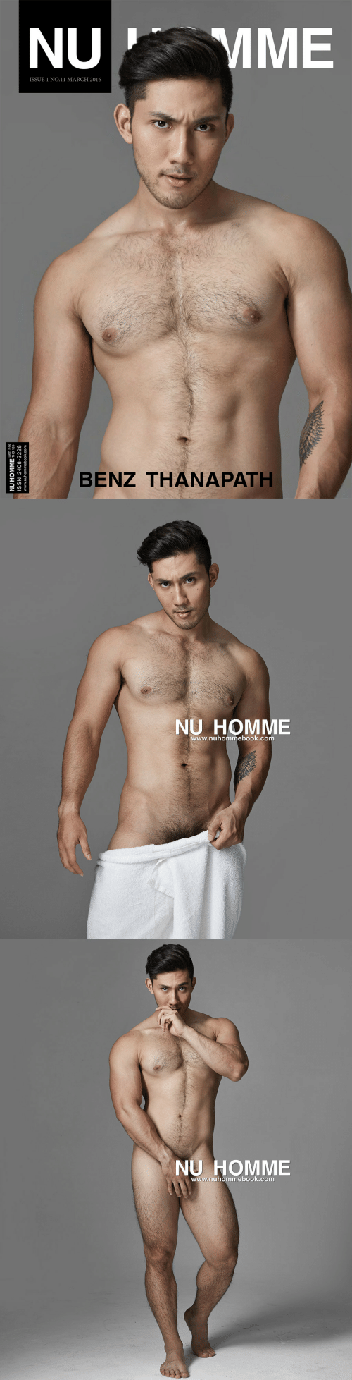 Com, Benz, and March: MME  NU  ISSUE 1 NO.11 MARCH 2016  BENZ THANAPATH  NU HOMME HB 120  ISSN 2408-2228  www.nuhommebook.com   NU HOMME  www.nuhommebook.com   NU HOMME  www.nuhommebook.com