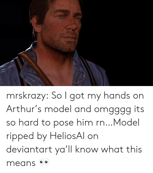 its so hard: mrskrazy:  So I got my hands on Arthur's model and omgggg its so hard to pose him rn…Model ripped by HeliosAI on deviantart  ya'll know what this means 👀