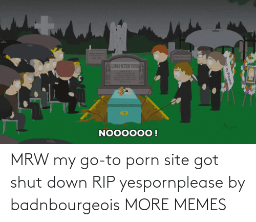 Porn: MRW my go-to porn site got shut down RIP yespornplease by badnbourgeois MORE MEMES